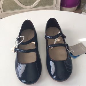 Navy Blue Patent Leather Mary Janes